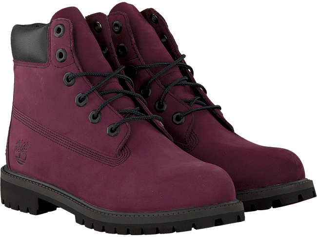 Paarse TIMBERLAND Enkelboots 6IN PRM WP BOOT KIDS  - large