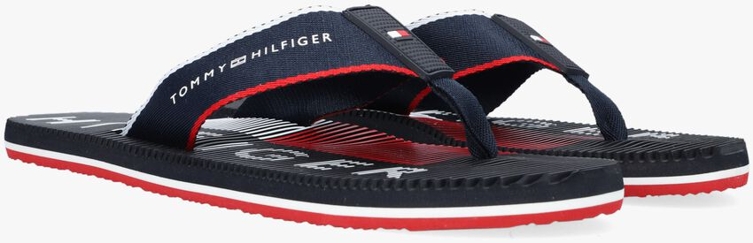 Blauwe TOMMY HILFIGER Teenslippers MASSAGE FOOTBED TH BEACH - larger