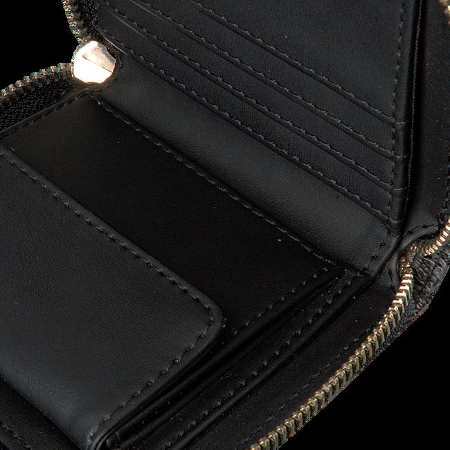 Zwarte GUESS Portemonnee JENSEN SLG SMALL ZIP AROUND  - large