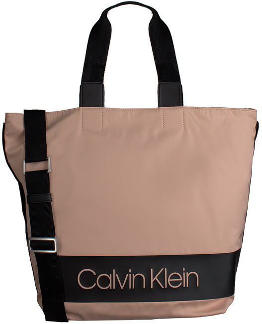 Zwarte CALVIN KLEIN Schoudertas BLOCK OUT SHOPPER - large