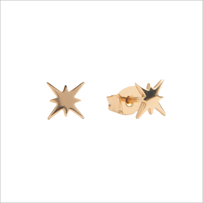 Gouden ATLITW STUDIO Oorbellen PARADE EARRINGS STARBURST - large