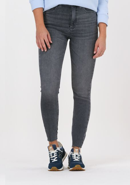 Grijze CALVIN KLEIN Skinny jeans HIGH RISE SUPER SKINNY ANKLE - large