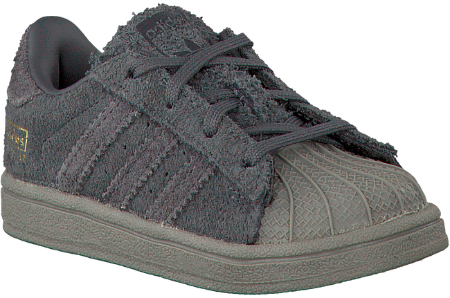 Grijze ADIDAS Sneakers SUPERSTAR KIDS 1  - large