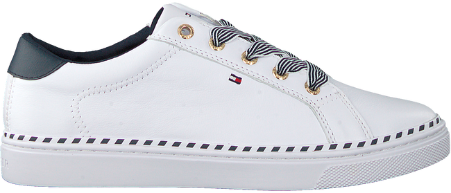 Witte TOMMY HILFIGER Lage sneakers NAUTICAL LACE UP  - large