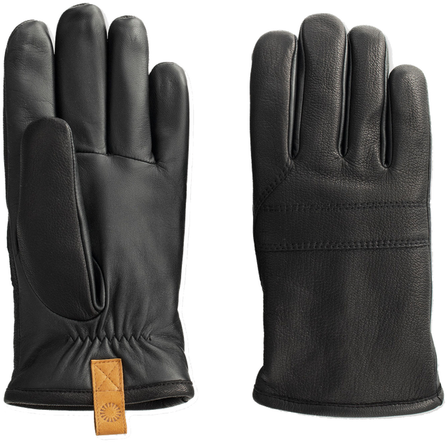 Zwarte UGG Handschoenen CASUAL LEATHER GLOVE WITH PULL - large