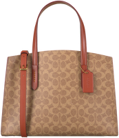 Cognac COACH Handtas CHARLIE CARRYALL  - medium
