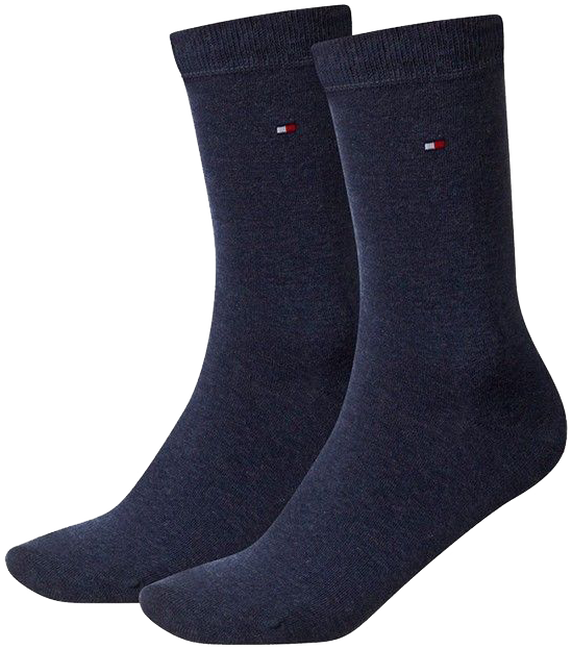 Blauwe TOMMY HILFIGER Sokken TH CHILDREN SOCK TH BASIC 2P - large