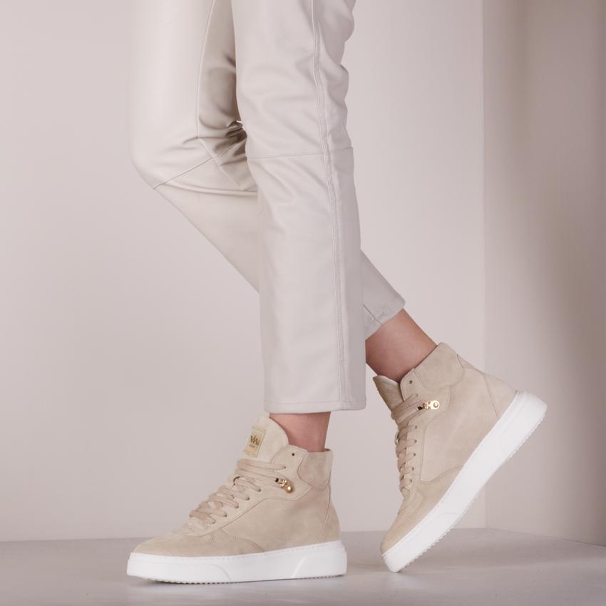 Beige VIA VAI Hoge sneaker JUNO LEE  - larger