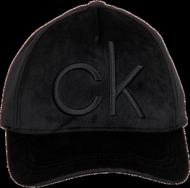 Zwarte CALVIN KLEIN Pet BASEBALL CAP VELVET - large