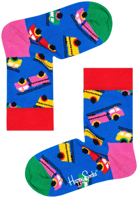 Blauwe HAPPY SOCKS Sokken KIDS FIRE TRUCK SOCK  - large