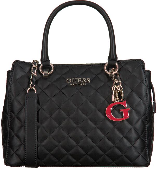 Zwarte GUESS Handtas MELISE LUXURY SATCHEL