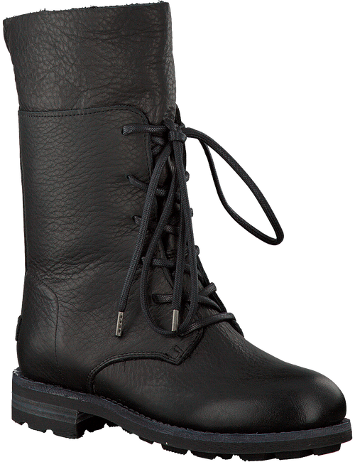 Zwarte SHABBIES Veterboots 184020003  - large