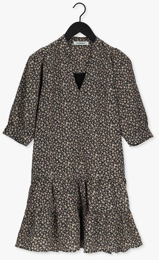 Zwarte CO'COUTURE Midi jurk BREEZE FLOWER BUTTON DRESS  - larger