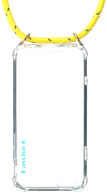 Gele KASCHA-C Telefoonkoord PHONECORD IPHONE 6/6S  - large