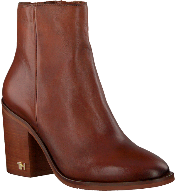 Cognac TOMMY HILFIGER Enkellaarsjes MONO COLOR HEELED  - large