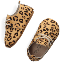 Cognac LITTLE INDIANS Babyschoenen OXFORD BOOTIES LEOPARD - medium