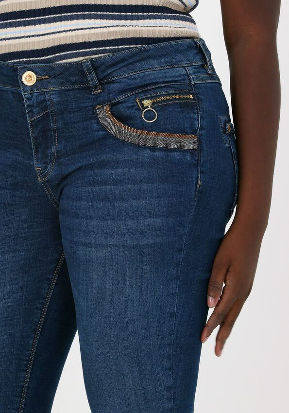 Blauwe MOS MOSH Slim fit jeans NAOMI SHADE BLUE JEANS - larger