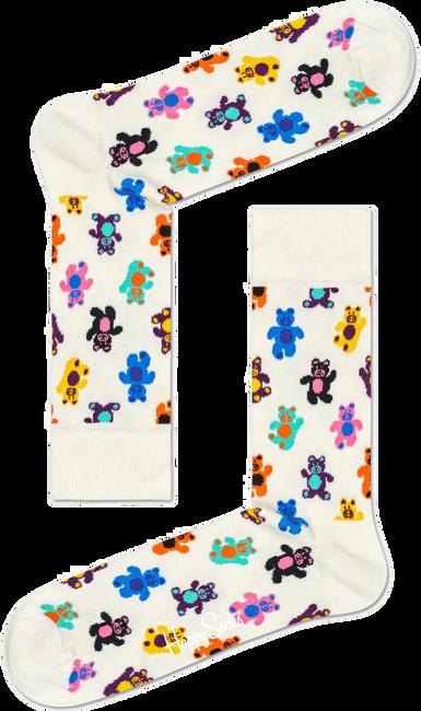 Witte HAPPY SOCKS Sokken TEDDYBEAR - large