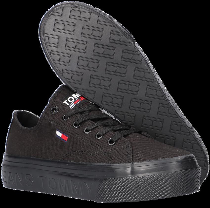 Zwarte TOMMY HILFIGER Lage sneakers TOMMY JEANS FLATFORM VULC  - larger