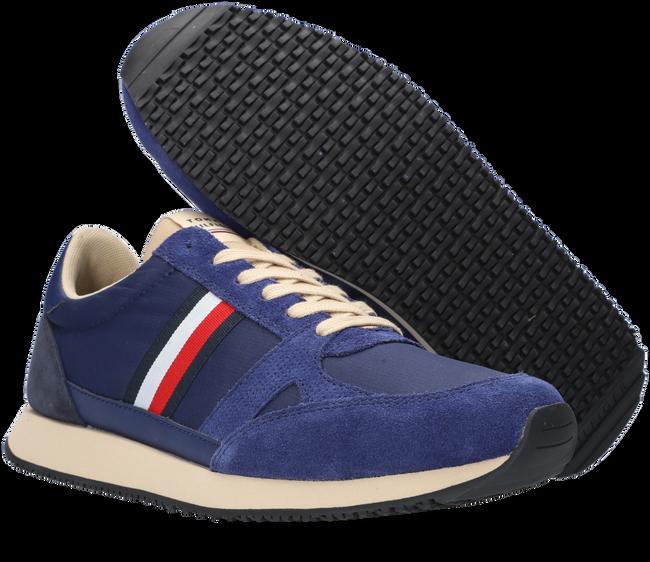 Blauwe TOMMY HILFIGER Lage sneakers RUNNER LO VINTAGE MIX  - large