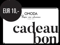 OMODA CADEAUBON EUR 10,- - medium