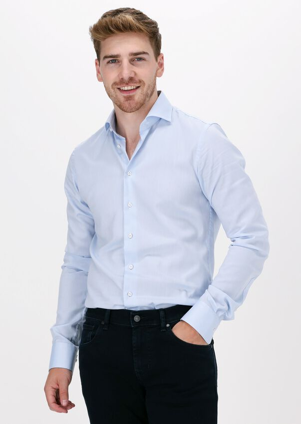 Lichtblauwe PROFUOMO Klassiek overhemd HAISEY  - larger