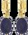 JEWELLERY BY SOPHIE OORBELLEN EARRINGS ROYAL - swatch