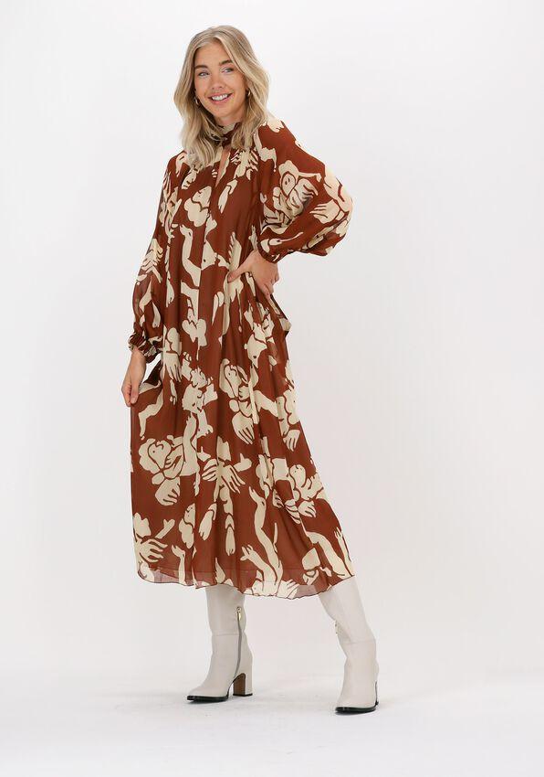 Bruine OTTOD'AME Midi jurk ABITO  - larger