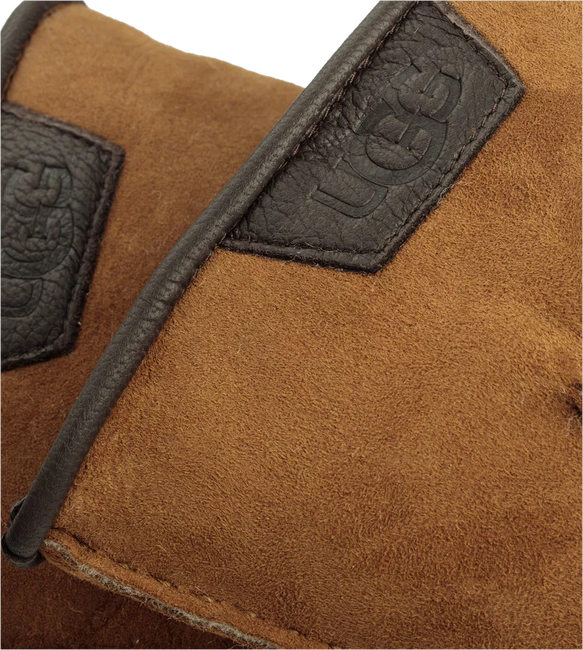 Cognac UGG Handschoenen CASUAL GLOVE WITH LEATHER LOGO - large