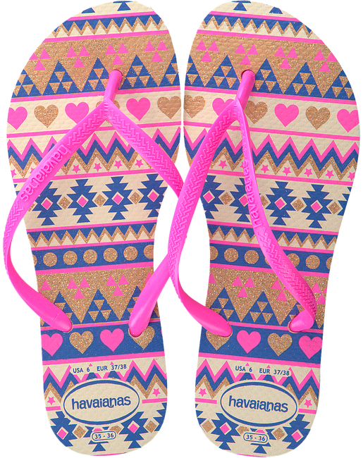 roze HAVAIANAS Slippers KIDS SLIM FASHION  - large
