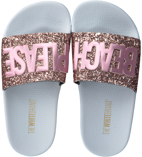 Roze THE WHITE BRAND Slippers GLITTER PATCH  - large