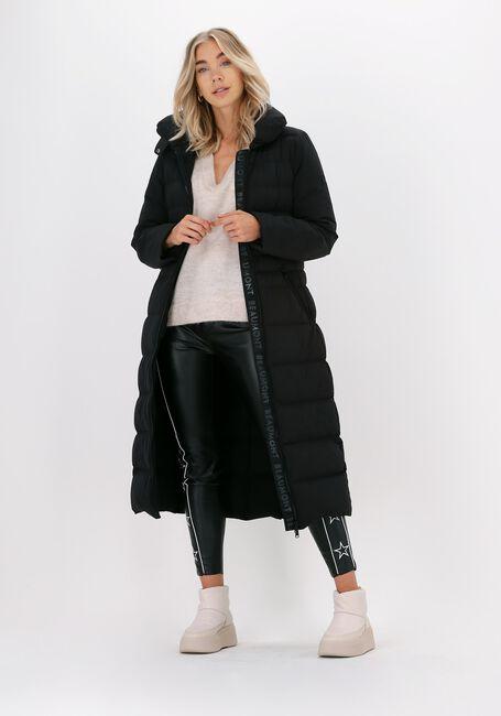 Zwarte BEAUMONT Gewatteerde jas BI STRETCH LONG COAT - large