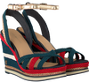 Blauwe TOMMY HILFIGER Espadrilles CORPORATE WEDGE SANDAL SPORTY - small
