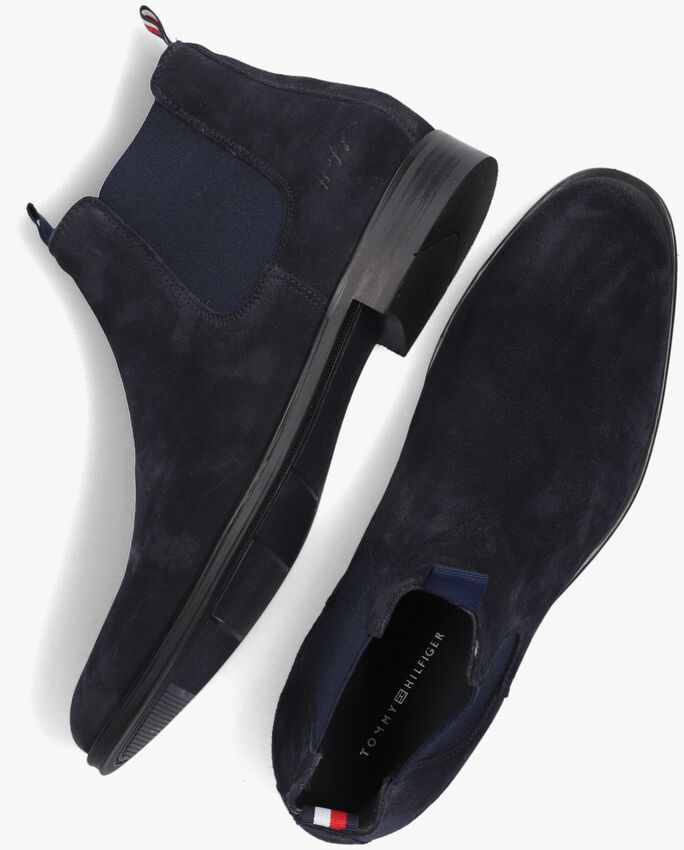Blauwe TOMMY HILFIGER Chelsea boots CASUAL SUEDE  - larger