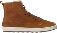 Cognac HUB Hoge sneaker BASE  - medium
