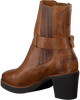 Cognac SHABBIES Enkellaarsjes 182020175  - small