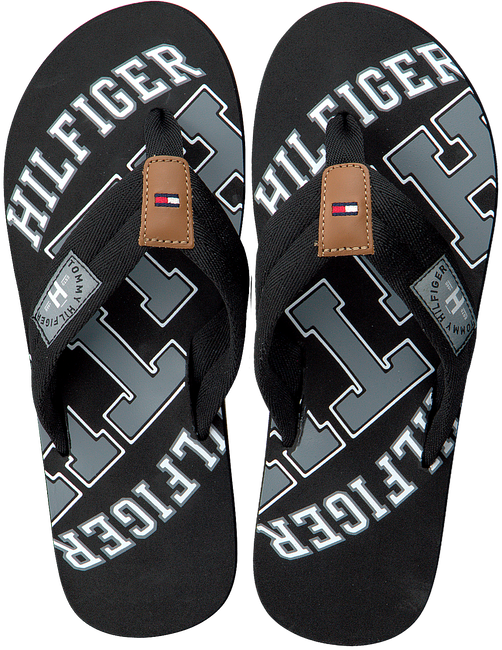 Zwarte TOMMY HILFIGER Slippers ESSENTIAL TH BEACH SANDAL - large