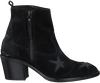 Zwarte NUBIKK Enkellaarsjes FREDDY STARS  - small