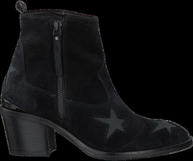 Zwarte NUBIKK Enkellaarsjes FREDDY STARS  - large