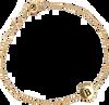 ALLTHELUCKINTHEWORLD ARMBAND CHARACTER BRACELET LETTER GOLD - small