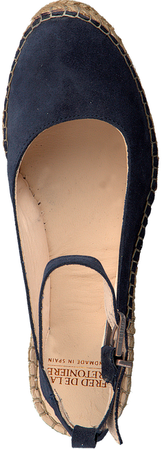 Blauwe FRED DE LA BRETONIERE Espadrilles 153010055  - large