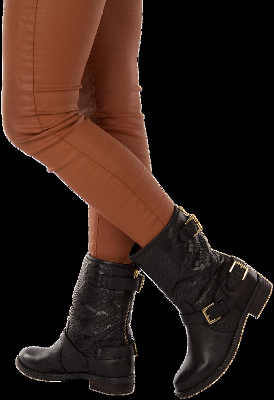 Zwarte NUBIKK Lange laarzen LEVA 3 | Omoda