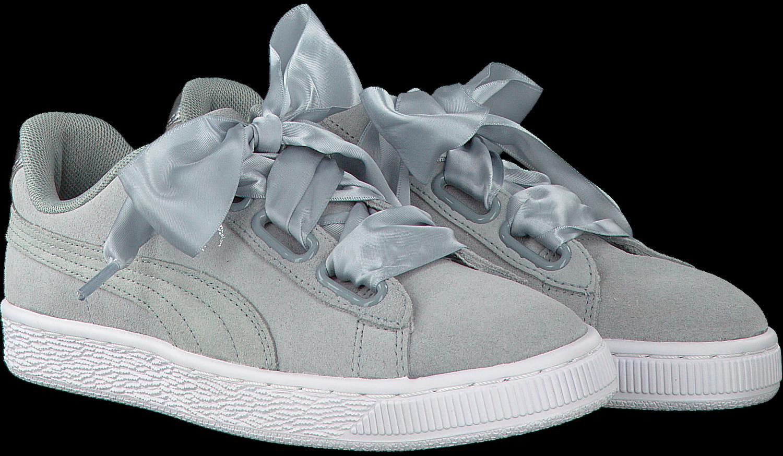 Grijze PUMA Sneakers SUEDE HEART SAFARI DAMES Omoda.nl