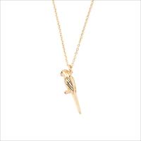 Gouden ATLITW STUDIO Ketting SOUVENIR NECKLACE PARROT - medium