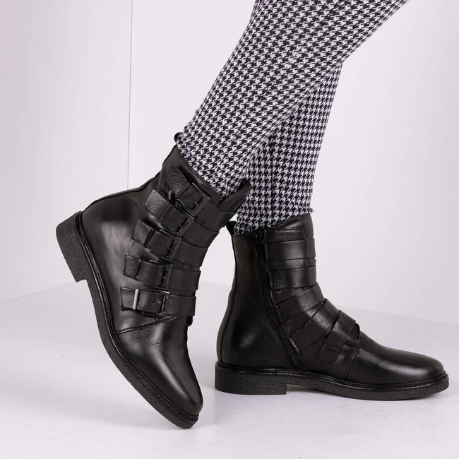 Zwarte VERTON Biker boots 204/03 mDXqftwY