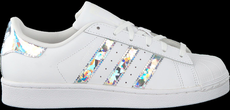 witte adidas sneakers superstar j