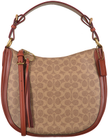 Cognac COACH Handtas SUTTON HOBO  - medium