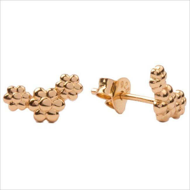 Gouden ATLITW STUDIO Oorbellen PARADE EARRINGS THREE FLOWERS  - large