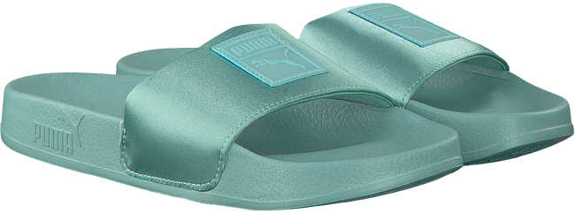 Blauwe PUMA Slippers LEADCAT SATIN WMNS  - large