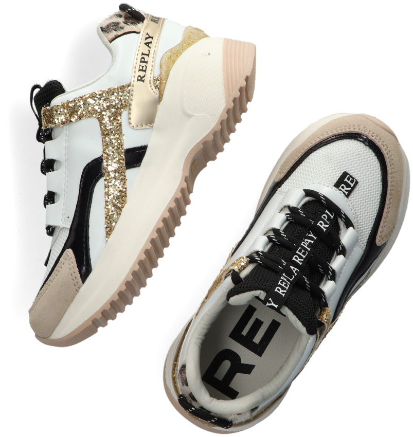 Witte REPLAY Lage sneakers FLY - larger